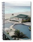 Cancun Beach Resort Spiral Notebook