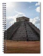 Cancun Mexico - Chichen Itza - Temple Of Kukulcan-el Castillo Pyramid 1 Spiral Notebook