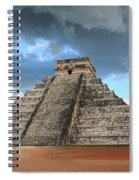 Cancun Mexico - Chichen Itza - Temple Of Kukulcan-el Castillo Pyramid 3  Spiral Notebook
