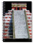 Cancun Mexico - Chichen Itza - Temple Of Kukulcan-el Castillo Pyramid Night Lights 1 Spiral Notebook