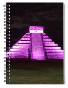 Cancun Mexico - Chichen Itza - Temple Of Kukulcan-el Castillo Pyramid Night Lights 2 Spiral Notebook