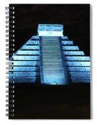Cancun Mexico - Chichen Itza - Temple Of Kukulcan-el Castillo Pyramid Night Lights 3 Spiral Notebook