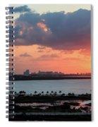 Cancun Mexico - Sunrise Over Cancun Spiral Notebook