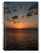 Cancun Mexico - Sunset Over Cancun Spiral Notebook