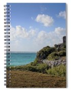 Cancun Mexico - Tulum Ruins - Temple For God Of The Wind 1 Spiral Notebook
