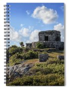 Cancun Mexico - Tulum Ruins - Temple For God Of The Wind 2 Spiral Notebook
