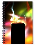 Candle And Colors Spiral Notebook