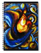Candle In Your Heart Spiral Notebook