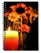 Candle Lit Spiral Notebook