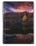 Candle Lit Lake Spiral Notebook