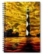 Candle On The Water Spiral Notebook