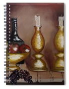 Candle Sticks Spiral Notebook