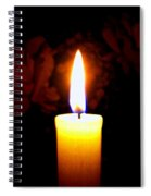 Candlelight And Roses Spiral Notebook