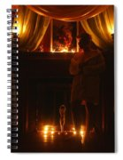 Candlelight Glow Spiral Notebook