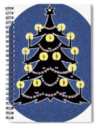 Candlelit Christmas Tree Spiral Notebook