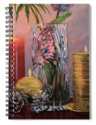 Candlelit Lupins Spiral Notebook
