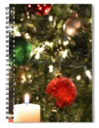 Candles For Christmas 2 Spiral Notebook