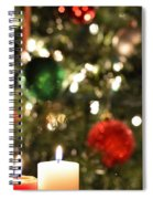 Candles For Christmas 3 Spiral Notebook