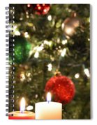 Candles For Christmas 5 Spiral Notebook