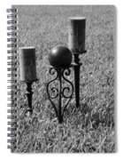 Candles In Grass Spiral Notebook