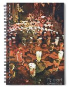 Candles In Graveyard During Day Of The Dead In Patzcuaro, Mexico Spiral Notebook