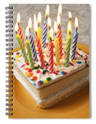 Candles On Birthday Cake Spiral Notebook