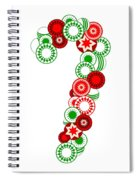 Candy Cane - Christmas Ornaments - Holiday Season Spiral Notebook