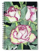Candy Cane Roses Spiral Notebook