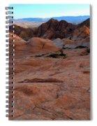 Candy Cliffs Sunset Spiral Notebook