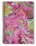 Candy Coated- Abstract Art By Linda Woods Spiral Notebook