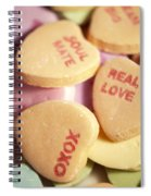 Candy Hearts Spiral Notebook