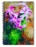 Candy Striped Hyacinth  Spiral Notebook