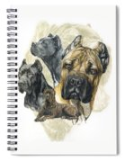 Cane Corso W/ghost Spiral Notebook