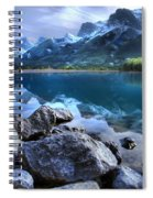 Canmore Reservoir Under A Setting Sun Spiral Notebook