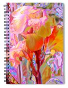 Canna Abstract 3 Spiral Notebook