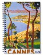 Cannes Vintage Travel Poster Spiral Notebook