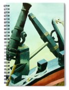 Cannon And Anchor Spiral Notebook