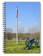 Cannon And Flagpole Overlooking River Spiral Notebook