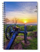 Cannon At Sunset Spiral Notebook