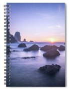 Cannon Beach Rocks Sunset Spiral Notebook