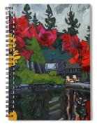 Canoe Lake Chairs Spiral Notebook