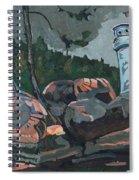 Canoe Lake Light Spiral Notebook