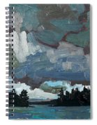 Canoe Lake Rain Spiral Notebook