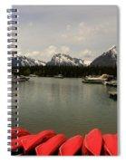 Canoe Meeting At Jackson Lake Spiral Notebook