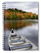 Canoe On A Lake Spiral Notebook