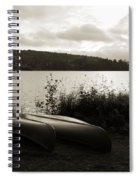 Canoe On A Shore Of A Lake At Dawn Spiral Notebook