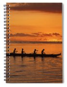 Canoe Paddlers Silhouette Spiral Notebook