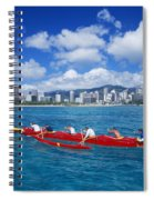 Canoe Race Spiral Notebook