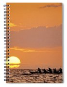 Canoeing At Sunset Spiral Notebook