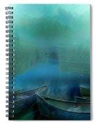 Canoes At Nightfall Spiral Notebook